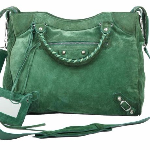 new style the sale of shoes save up to 80% BALENCIAGA MOTORCYCLE CLASSIC CITY DARK GREEN BAG